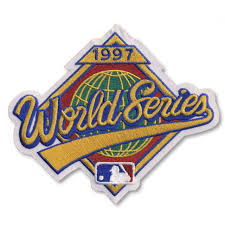 1997 World Series Embroidered Patch - Florida Marlins vs Cleveland Indians