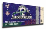 1998 MLB All-Star Game Canvas Mega Ticket, Rockies Host - MVP Roberto Alomar, Orioles
