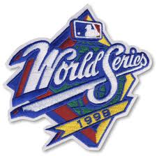 1998 World Series Embroidered Patch - New York Yankees vs San Diego Padres