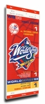1998 World Series Canvas Mega Ticket - New York Yankees