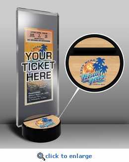 2000 Final Four Ticket Display Stand - Michigan State Spartans