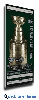 1999 NHL Stanley Cup Finals Commemorative Canvas Mega Ticket - Dallas Stars