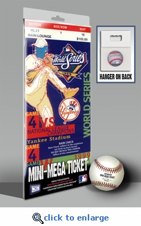 1999 World Series Mini-Mega Ticket - New York Yankees