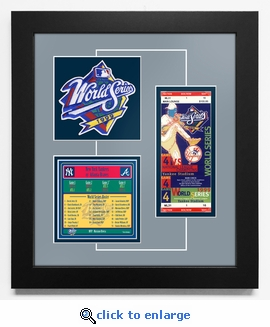 1999 World Series Replica Ticket & Patch Frame - New York Yankees
