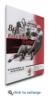2000 Rose Bowl Program Cover on Canvas - Wisconsin Badgers