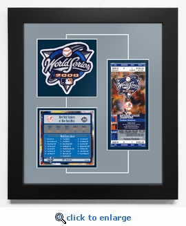 2000 World Series Replica Ticket & Patch Frame - New York Yankees