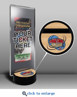 2001 Final Four Ticket Display Stand - Duke Blue Devils