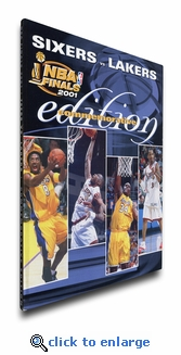 2001 NBA Finals Program Cover on Canvas - Los Angeles Lakers