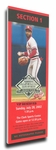2002 Baseball Hall Of Fame Induction Canvas Mega Ticket - Ozzie Smith