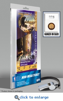2002 NBA Finals Mini-Mega Ticket - Los Angeles Lakers