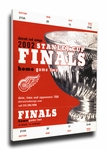 2002 NHL Stanley Cup Finals Canvas Mega Ticket - Detroit Red Wings