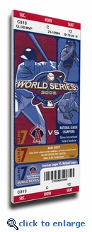 2002 World Series Canvas Mega Ticket - Anaheim Angels