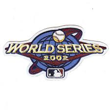 2002 World Series Embroidered Patch - Anaheim Angels vs San Francisco Giants