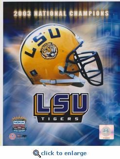 2003 National Champions Helmet 8x10 photo - Louisiana State Tigers