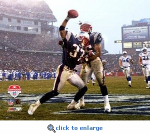 2004 AFC Championship Game Gillette Stadium Rodney Harrison Interception 8x10 Photo