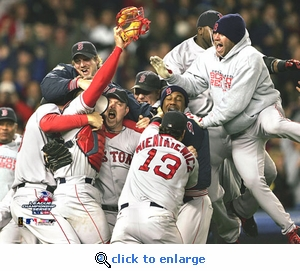 2004 ALCS Boston Red Sox Game 7 Team Celebration 8x10 Photo