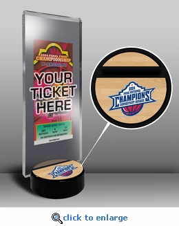 2004 Final Four Ticket Display Stand - UConn Huskies