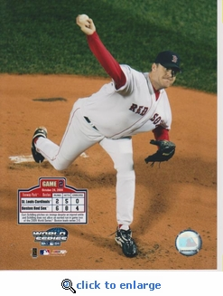 2004 MLB World Series Curt Schilling 8x10 Photo - Boston Red Sox