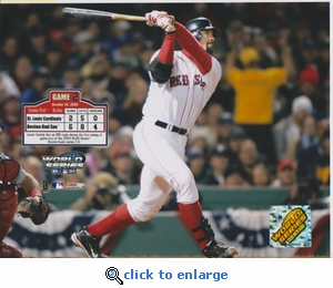 2004 MLB World Series Jason Varitek 8x10 Photo - Boston Red Sox
