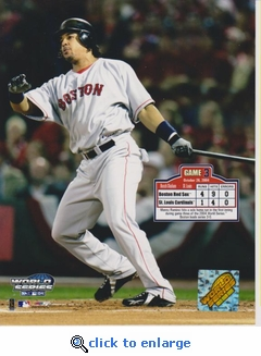 2004 MLB World Series Manny Ramirez 8x10 Photo - Boston Red Sox