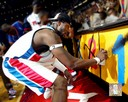 2004 NBA Finals Detroit Pistons Ben Wallace Spray Paint 8x10 Photo