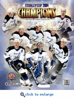 2004 NHL Stanley Cup Tampa Bay Lightning Team Collage 8x10 Photo