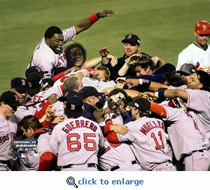 2004 World Series Boston Red Sox Game 4 Team Celebration 8x10 Photo