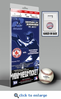 2004 World Series Mini-Mega Ticket - Boston Red Sox