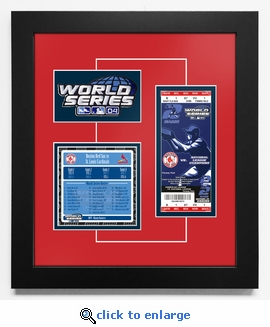 2004 World Series Replica Ticket & Patch Frame - Boston Red Sox