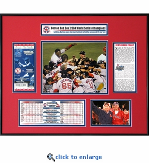 2004 World Series Ticket Frame - Boston Red Sox