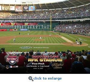 2005 Washington Nationals Opening Day Ceremony RFK First Pitch 8x10 Photo
