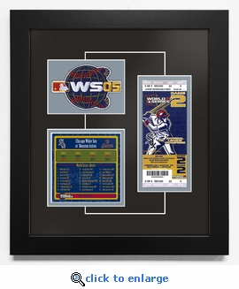 2005 World Series Replica Ticket & Patch Frame - Chicago White Sox