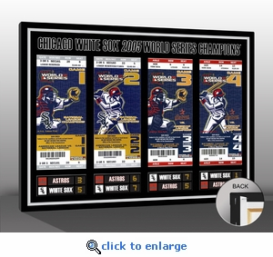 2005 World Series Tickets to History Canvas Print - Chicago White Sox