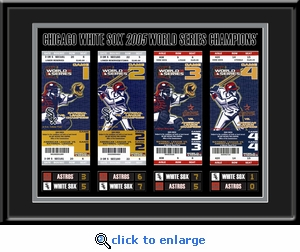 2005 World Series Tickets to History Framed Print - Chicago White Sox