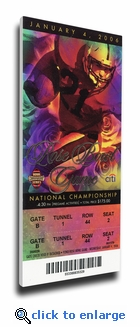2006 Rose Bowl/BCS National Championship Game Mega Ticket - Texas Longhorns