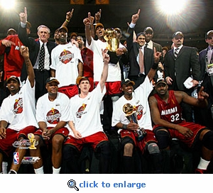 2006 NBA Finals Miami Heat Team Celebration 8x10 Photo