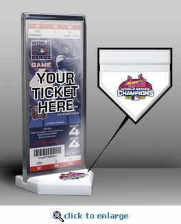2006 World Series Champions Ticket Display Stand - St Louis Cardinals