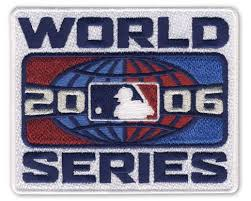 2006 World Series Embroidered Patch - St Louis Cardinals vs Detroit Tigers