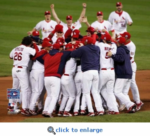 2006 World Series Game 5 Team Celebration 8x10 Photo