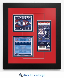 2006 World Series Replica Ticket & Patch Frame - St Louis Cardinals