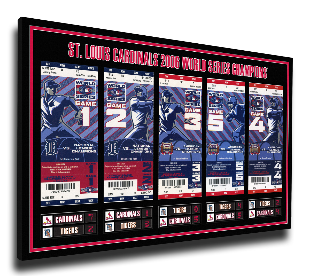 2006 World Series Tickets To History Canvas Print