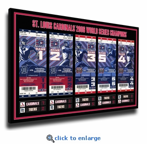 2006 World Series Tickets to History Canvas Print - St Louis Cardinals
