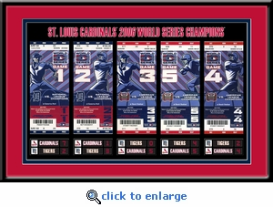 2006 World Series Tickets to History Framed Print - St Louis Cardinals