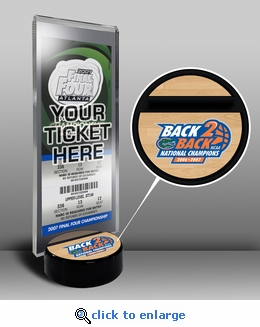 2007 Final Four Ticket Display Stand - Florida Gators