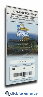 2007 Frozen Four Canvas Mega Ticket - Michigan State Spartans