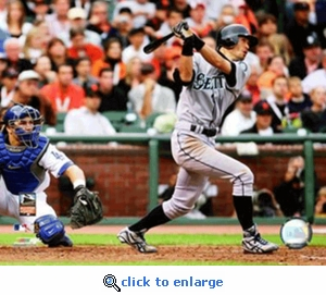 2007 Major League Baseball All Star Game Ichiro Suzuki Lead Off Home Run 8x10 Photo