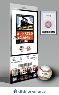 2007 MLB All-Star Game Mini-Mega Ticket, Giants Host - MVP Ichiro Suzuki, Mariners
