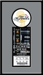 2007 NBA Finals Single Ticket Frame - San Antonio Spurs Champions