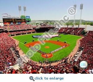 2007 Opening Day Great American Ballpark Reds 8x10 Photo