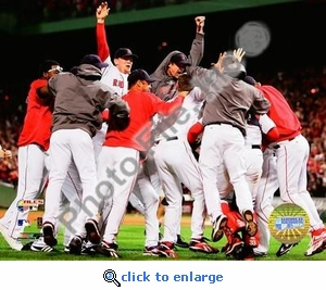 2007 Red Sox ALCS Champs Celebration 8x10 Photo